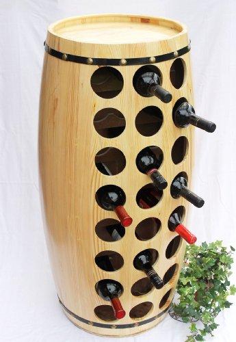 DanDiBo Weinregal Weinfass für 48 Fl. aus Holz H-99 cm Nr.1502 Flaschenständer Regal Fass
