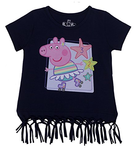Peppa Pig 123 Skates Navy Blue T-Shirt for Girls - 2-3 yrs