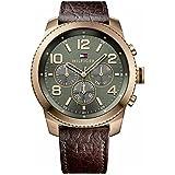 Tommy Hilfiger Herren-Armbanduhr Analog Quarz Leder 1791109