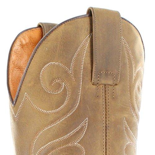 Stivali Sendra 11598 Stivali In Pelle Con Bretelle Da Donna Marrone Western Stivali Da Equitazione Tang