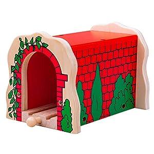 Bigjigs - Túnel de ladrillo, Color Rojo (biBJT135)