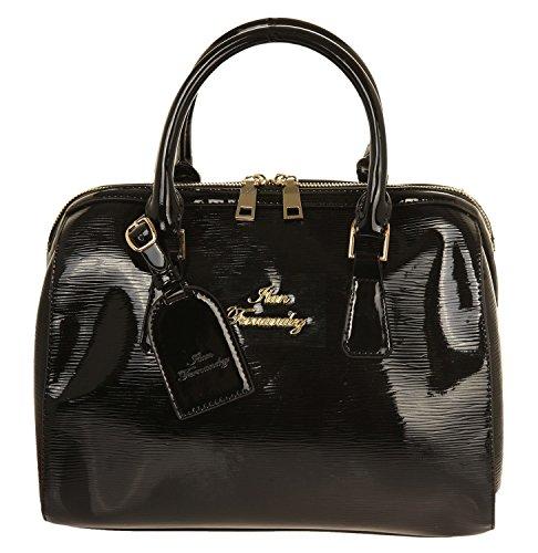 Ilan Fernandez Damen Bowling Bag Schwarz LV02-Black