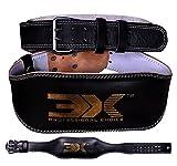 PROFESSIONAL CHOICE 3x Deportes Piel Levantamiento de Peso cinturón 4'Fitness la Espalda Entrenamiento de Fuerza Gimnasio, Negro, S(32'-36')