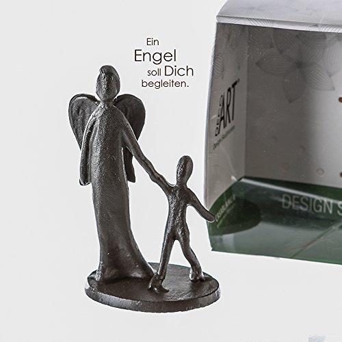 Casablanca 74776 Mini Design – Skulptur/Dekofigur – Schutzengel – Eisen – 6x10x5 cm