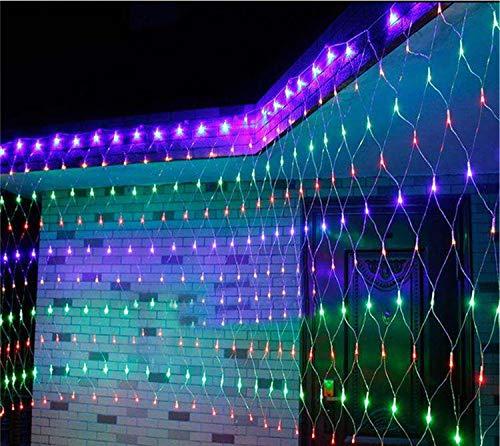 Road&Cool LED-Lichternetz Net Licht Weihnachten Im Freien Wasserdichte Garten Fischernetze Starry Hochzeit String Dekoration Warmweiß Nachtlampe Stimmung Fee