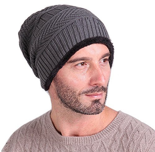 Zacharias Inside fur Men's Woolen Warm Knitted Cap