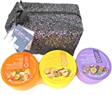 Grace Cole Tropical Body Butter Medley Gift Set with in New York Sequin Glitz Zipped Tote Pineapple & Passion Fruit 235 gm Peach & Pear 235 gm Passion Fruit and Guava 235 gm