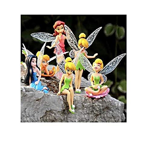 ue Tinkerbell Feen Geheimnis der Flügel & Friends Feen Set Kuchen Cupcake Topper Figur Dekoration Liebenswürdig, Display Set 6+ Kleber ()