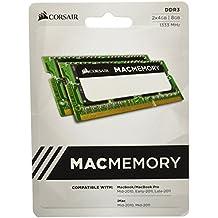 Corsair Mac Memory - Memoria para Apple Mac de 8 GB (2 x 4 GB, DDR3, SODIMM, 1333 MHz, CL9, certificada por Apple) (CMSA8GX3M2A1333C9)