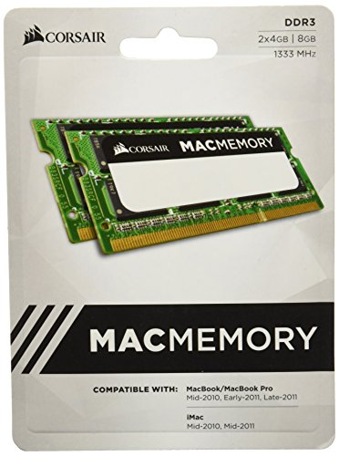 Apple 4 Gb Imac Ram (Corsair CMSA8GX3M2A1333C9 Apple Mac 8GB (2x4GB) DDR3 1333Mhz CL9 Apple Zertifiziert SO-DIMM Kit)