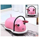 Zhangmeiren Casa for Bambini Pulley Feci Fumetto Quattro Scivolata in Pelle Sgabello Giocattolo Divano Sgabello (Color : Pink)