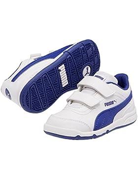 PUMA Stepfleex FS SL V - Zapatillas para niños, color blanco / azul, talla 31