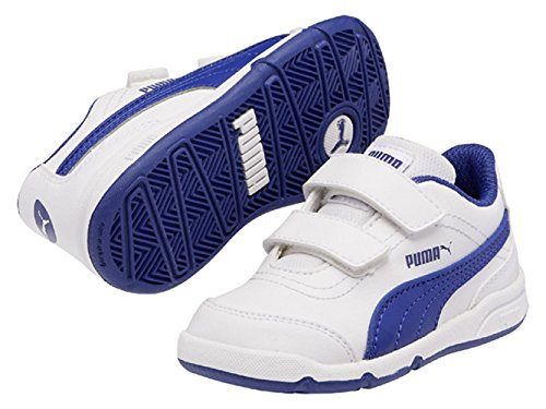 Puma Stepfleex Fs Sl V Kids, Chaussures de running mixte enfant Multicolore (Blanc/Blue)
