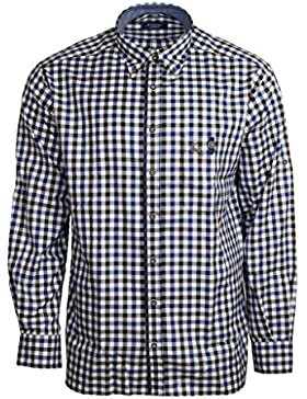 Eterna Herren Hemd Langarm Comfort Fit Blau Braun karo Businesshemd Freizeithemd Freizeit Business Hemd Hemden...