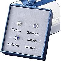 Preisvergleich für Ohrringe Schmuck Set für verschiedene Jahreszeiten