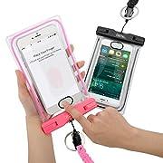 2 Pack Custodia Impermeabile Universale Permette il Riconoscimento Dell'impronta Digitale,Compatibilià con smartphone fino a 6 pollici (LxA = 170 mm x 100 mm) iPhone 7,7 plus,6,6 plus,6s,6s plus,SE,5s,5C,5,4S,IPod Touch Samsung Galaxy s7,s7 e...