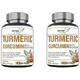 HerbalValley Turmeric Curcumin With Bioperine | Anti-Inflammatory | Antioxidant | Joint Pain Relief | 60 Capsules...