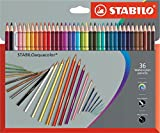 STABILO aquacolor matita colorata acquarellabile colori assortiti - Astuccio da 36