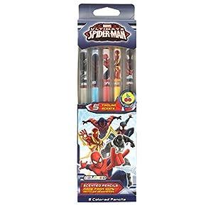 Scentco 70.SPMN4005 - Lote de 5 lápices de Colores para Spiderman