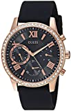 Guess Women's Quartz Stainless Steel and Silicone Casual Watch, Color:Black (Model: U1135L4)