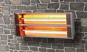 Wall Mounted Patio Heater Adjustable Swivel Arm Terrace