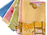 Babymajawelt Baby Flannel Sheets 70x 80 cm -5 Pack UNI- Nappies soft and cuddly