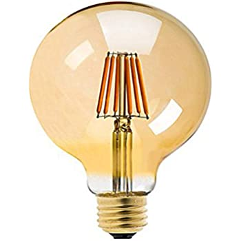 ... E27 Bombillas Edison 8W Bombilla Vintage G125 LED Retro Blanco Cálido 800LM Bombillas LED Filamento Sustitución del Incandescente 80W Regulable - 4Pack