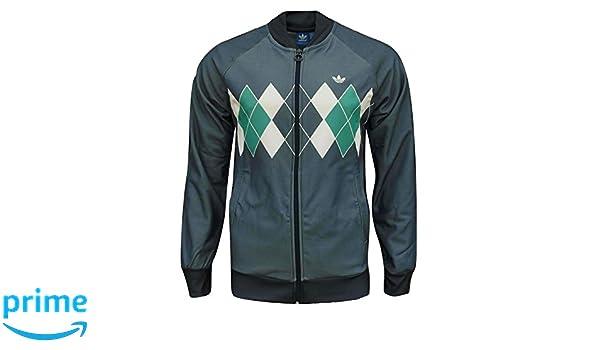 best website 2bdf9 6bf9b adidas Originals Men s Argyle Golf Track Top Jacket Indigo  Amazon.co.uk   Clothing