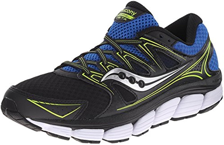 Saucony Men's Propel Vista Running Shoe, Black/Royal/Citron, 44 D(M) EU/9 D(M) UK