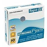 Rapid Agrafes en fil robuste Strong N°23, Longueur 10 mm, 1000 Agrafes, Agrafe jusqu'à 120 feuilles, Fil galvanisé, 24869900