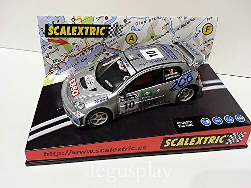 SCX Slot Scalextric 6064 Peugeot 206 WRC V Open de España 2001 Nº10