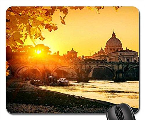 vision-en-tiber-y-catedral-de-san-pedro-en-roma-italia-mouse-pad-mousepad-modern-mouse-pad