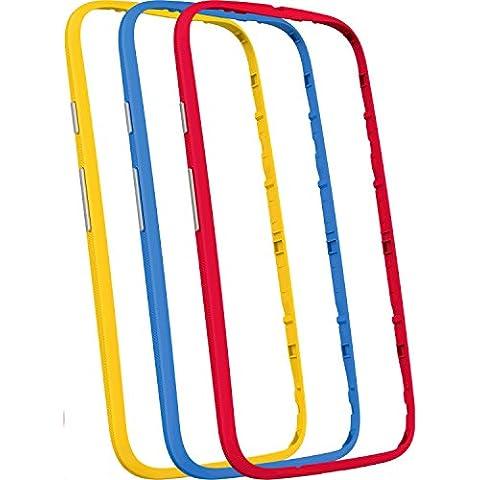Motorola Grip Band - Funda para Motorola Moto E 2a Generación, multicolor - Pack de 3 unidades