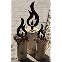 Dekostüberl Edelrost Flammen filigran im Set Garten Terrasse Bausatz Advent Kerze Basteln