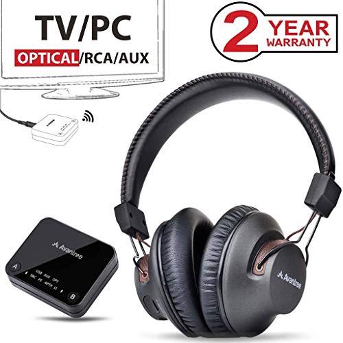 Avantree 2018 Nouveau HT4189 Casque TV sans Fil avec émetteur Bluetooth, Support...