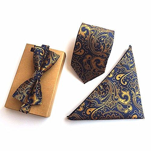 XZLP99 British Style Gentleman Business Kleid Bug Formale Geblümten Krawatte Einfach Mode Tasche Schal Krawatte Anzug, Gold - Valentinstag-formale Kleid
