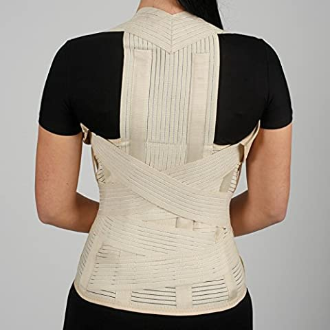 Dorsolumbar support Correcteur de posture orthopédique Bandage de correction du dos de qualité médicale Small Medium Large XL XXL Noir Beige Bas du dos support Haut du dos support