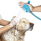 Thmyo Haustier-Bade-Werkzeug, Haustier-Dusch-Sprayer mit 7,5 Fuß Schlauch und 2 Schlauchadaptern für Hunde/Katzen, Pferdepflege und Massage, für den Innen- und Außenbereich