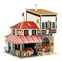Creative Assemble Puzzle Toys Child Early Education Wooden 3D Puzzle House Turkey Spice Market