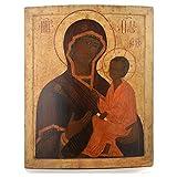 Alte russische Ikone Gottesmutter von Tichvinskaja 18. Jh