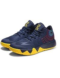 Herrenschuhe High-Top Sneakers Sportschuhe Basketballschuhe Booties/Stiefeletten für Sportlich Rutschfest (Color : A, Größe : 37) Huan