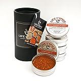 Life of Spice Reiben Gourmet Sammlung - Geschenkset mit 5 BBQ Reiben (40g/35g/30g)