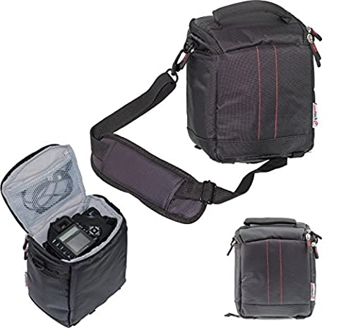 Navitech Black Protective Portable Handheld Binocular Case and Travel Bag for the Olympus 8 x 40 DPSI