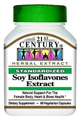 21st Century Health Care, Soy Isoflavones Extract, Standardized, 60 Veggie Caps