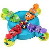 Mamum Frosch Ball aus Tischspielen, Frösche hungrig hungrig kreativem Desktop Spielzeug interaktiven Spaß für Kinder Brettspiel