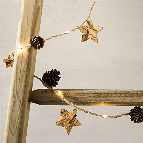 Createjia Weihnachtsbeleuchtung Lichterkegel Kupferkegel Kegel Kieferkette Lichterkette für Weihnachten Baum und Zuhause Halloween Hochzeit Dekoration Kegel-stopper