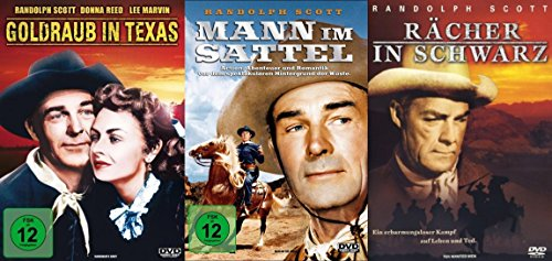 Randolph Scott Western Klassiker Collection - Goldraub in Texas + Mann im Sattel + Rächer in schwarz 3 DVD Edition