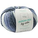 Merinowolle *1 Knäuel Merino Wolle spirit (Fb 5005)* color Merinowolle zum Stricken + GRATIS MyOma Label - 100g/150m – Wolle zum Stricken - MyOma Wolle - weiche Wolle - Merino Garn