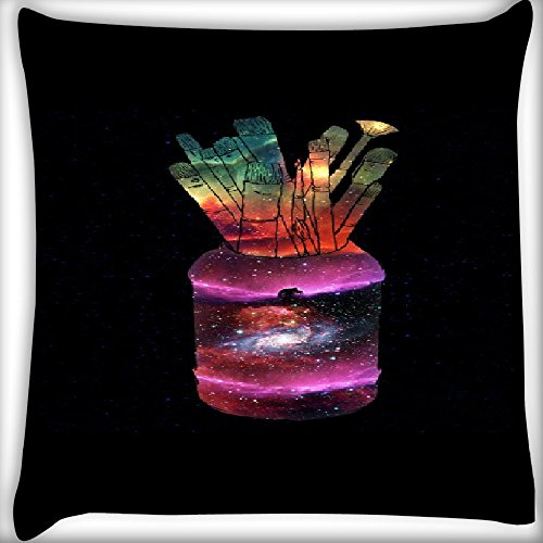 Snoogg Galaxy Bottle 12 x 12 Inch Throw Pillow Case Sham Pattern Zipper Pillowslip Pillowcase For Drawing Room sofa Couch Chair Back Seat  available at amazon for Rs.145