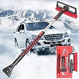 COFIT 3 in 1 Spazzola da Neve Staccabile, con Tergipavimento e Raschietto per Ghiaccio, Strumento per la Rimozione del Ghiaccio del Gelo della Neve con Impugnatura in Schiuma per Camion SUV